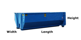 dumpster dimensions for Boston dumpster rentals